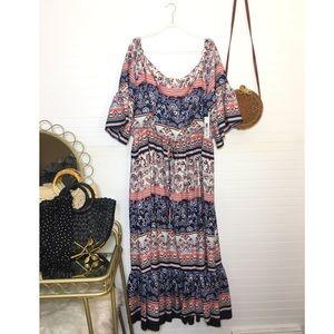 NEW Eliza J Floral Print Maxi Dress